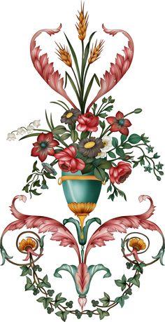 Flower Art Images, Paisley Art, Colorful Drawings, Geometric Art, Handmade Flowers, Mehndi Designs, Textile Design, Flower Pots, Paper Flowers