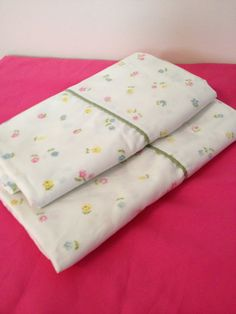 vintage king size set of two pillowcases clean by