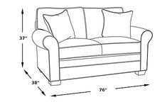 Cindy Crawford Home Bellingham Platinum Sleeper Loveseat -Sleeper Loveseats (Beige)