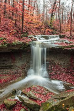 Blue Hen Falls in the Cuyahoga Valley National Park, Ohio...