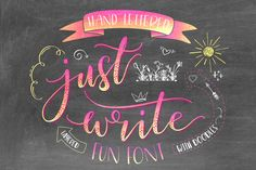 Just Write Hand Lett