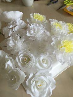 ペーパーフラワー paperflower  手作りウェディング wedding  crepepaper