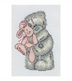 Maia Counted Cross Stitch Kit Tatty Teddy Pink Rabbit, , hi-res