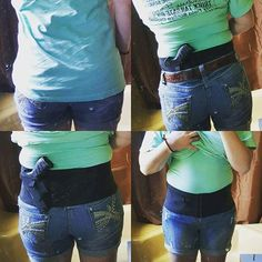 Check out our customer of the week spotlight, Carrie! She holsters her Walther CCP 9mm in a Hip Hugger Classic. Her story is on our facebook page.  #concealedcarry #donttreadonme #secondamendment #progun #gunrights #vote #safety #ccw #girlsandguns #selfdefense #firearm #blackonblack #hiphugger #cancanconcealment