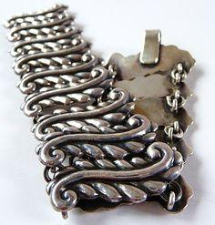 Taxco Mexican sterling fern leaf bracelet...