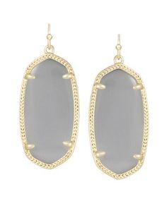 ff47f528c Elle Gold Earrings in Slate Kendra Scott Elle Earrings, Kendra Scott  Jewelry, 14k Bracelet