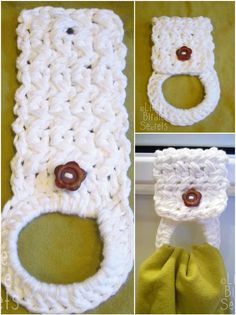 Crochet Towel Rack - 31 Free Crochet Patterns That You will in Love with | 101 Crochet