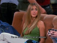 """When Rachel was """"so happy and not at all jealous"""" of Monica and Chandler& engagement. Flirting Quotes For Her, Flirting Tips For Girls, Flirting Memes, Nancy Dow, Friends Scenes, Friends Tv Show, Friends Moments, Friends Season 6, Rachel Friends"""