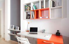 bureau in klein appartement