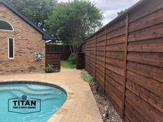 Building A Fence, Horizontal Fence, Cedar Fence, Garage Doors, Outdoor Decor, Home Decor, Decoration Home, Room Decor, Interior Design