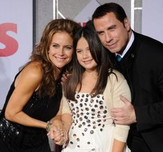 John Travolta and the GORGEOUS Kelly Preston! While working the show Kelly was super nice, nicer than any other celeb that visited the show wile I worked there. All In The Family, Family Is Everything, Beautiful Family, Beautiful People, Kelly Preston, Men Tv, Famous Men, Famous People, Star Children