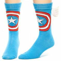 Captain America Ombre Crew Socks Blue