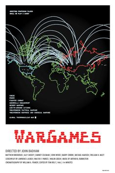 WarGames (1983) - Minimal Movie Poster by Matt Dupuis ~ #minimalmovieposter #alternativemovieposter #mattdupuis