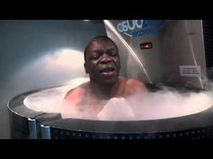 Jeff Mayweather & Nieky Holzken try out the SubZero Recovery chamber; hi...