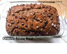 Chocolate Banana Bread                                        Ingredients1 3/4 cups  flour 1/4 cup cocoa powder 1 cup sugar 1 tsp. baking po...