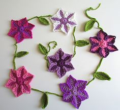Clematis Garland Bunting by Claire Maloney