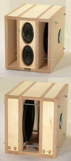 15 Stylish Speaker Stands Ideas for Modern Designs – My Life Spot Open Baffle Speakers, Home Speakers, Built In Speakers, Subwoofer Box Design, Speaker Box Design, Audio Design, Sound Design, Woofer Speaker, Speaker Plans