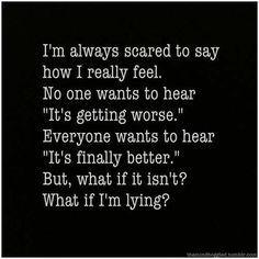 Migraine getting worse Quotes Deep Feelings, Hurt Quotes, Real Quotes, Mood Quotes, Life Quotes, Depressing Quotes, Chronic Fatigue, Chronic Illness, Chronic Migraines