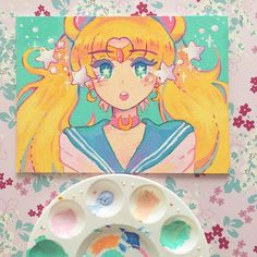 "21k Likes, 172 Comments - ira  (@ira.exe) on Instagram: ""a sailor moon redraw  (painted one last summer)! it may be for sale, but i still cant make up a…"""