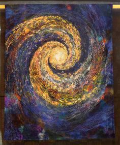 Hilde van Schaardenburg and Sandra Marcum: Celestial Fireworks (Two Person Quilts) The Festival of Quilts 2015