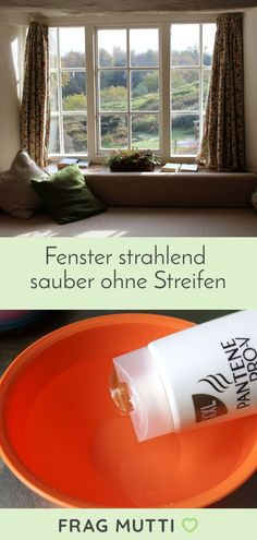 Simply put a little swing of your hair shampoo in the bucket and brush. Then pull the windows off with a window cleaner and dry the edge with a towel Informations About Fenster strahlend sauber … Cleaning Blinds, Cleaning Wood, Cleaning Hacks, Tips And Tricks, Greenhouse Gardening, Gardening Tips, Clean Window Blinds, Hard Water Spots, Grease Stains