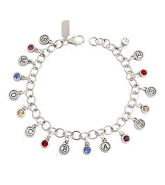 What more could Grandma want than all of your family wrapped around you at all times, with her grandma name staring right back at her! All her grandbabies initials and birthstones on a dainty bracelet sounds like a great grandmother gift!- www.nelleandlizzy.com