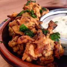 I love onion bhaji's and for years I have tried to make my own at home but every time I've tried they have either fallen apart in the pan or been too stodgy. Yesterday however I finally achieved it, a tasty and delicious bhaji that is so simple to make. All you need is some flour, onions, baking powder and spices. Whisk them together and then deep fry and depending on how quick you can heat your oil you can have 12 yummy crispy treats on your dinner table in less than 30 minutes!