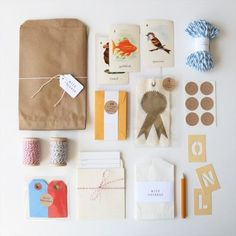 gift wrapping kit #wrapping #birthday #christmas #card