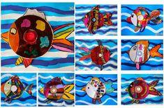 Peces con CDs reciclados http://www.manualidadesinfantiles.org/peces-con-cds