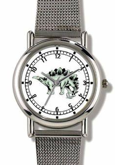 Stegosaurus Dinosaur Animal - WATCHBUDDY® ELITE Chrome-Plated Metal Alloy Watch with Metal Mesh Strap-Size-Small ( Children's Size - Boy's Size & Girl's Size ) WatchBuddy. $79.95. Save 37%!