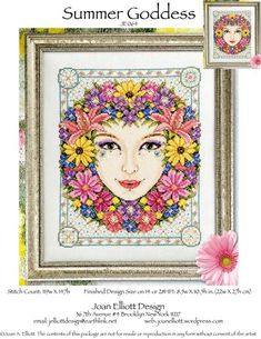 winter goddess by joan elliott designs xs charts