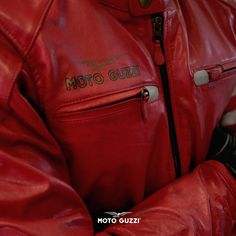 Extension of a state of mind. Red Leather, Leather Jacket, Moto Guzzi, Biker Style, Eccentric, Pride, Motorcycle, Chic, Classic