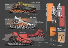 Anta Infinity Project on Behance Cyberpunk Clothes, Cyberpunk Fashion, Futuristic Shoes, Sneakers Sketch, Shoe Sketches, Mens Skechers, Industrial Design Sketch, Nike Air Shoes, Shoes Sneakers