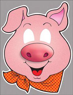 Three Little Pigs: Classroom Play Masks by Scholastic Animal Masks For Kids, Mask For Kids, Farm Animals Preschool, Student Presentation, Disney Lessons, Pig Mask, Iris Folding Pattern, Farm Animal Birthday, Graduation Theme