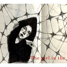 """""""The girl in the net"""" sketchbook by aliceandtherabbit.at - Illustration graphic art - Tattoo Graphic, Graphic Art, Book Illustration, Illustrations, Illustrators On Instagram, About Me Blog, Sketches, Bird, Flowers"""