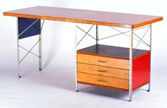 Charles Eames Mid Century ESU D - 20 Desk circa 1952 manufactured by Herman Miller. From my parent's living room.