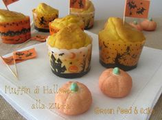 #Halloween #Muffin alla #zucca http://blog.giallozafferano.it/greenfoodandcake/muffin-zucca/