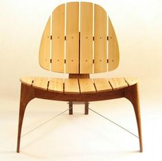 Modern Patio Chair by Fillingham Art Furniture Design - modern - outdoor chairs - Etsy back deck Modern Deck, Modern Outdoor Furniture, Mid-century Modern, Modern Design, Art Furniture, Furniture Design, Rattan Furniture, Deck Chairs, Chair Design