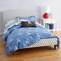 Kids' Bedding: Kids' Blue Pirate Seas Cotton Bedding in Boy Bedding (land of nod)