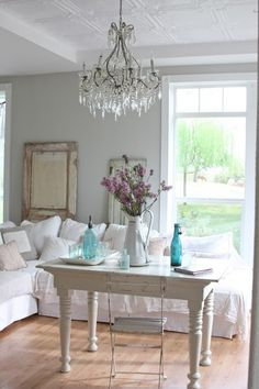 Beautiful and airy shabby chic living space. TeamWorks Realtor Group. Call us today! 540-271-1132.