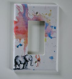 Elephant Decorative Light Switch Plate Cover Great Baby Nursery Decor, Kids Room Decor, and For Any Elephant Lover