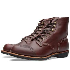 RED WING BOOTS IRON RANGER OXBLOOD MESA LEATHER 8119 MADE IN THE USA #redwing #ironranger