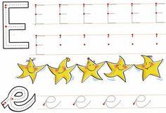 la letra vocal e fichas infantiles de las vocales, ejercicios de las vocales para niños gratis
