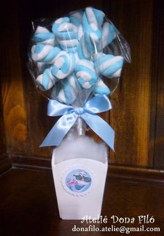 Disney Frozen Party, Frozen Birthday Party, Birthday Parties, Diy Party Decorations, Baby Shower Decorations, Marshmallow Centerpieces, Sweet Trees, Frozen Princess, Candy Bouquet