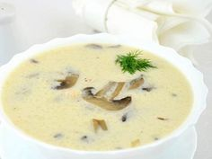 Mushroom soup with cheese