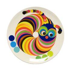 Tate - children's plate - caterpillar