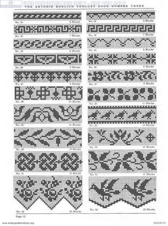 If you looking for a great border for either your crochet or knitting project, check this interesting pattern out. When you see the tutorial you will see that you will use both the knitting needle and crochet hook to work on the the wavy border. Cross Stitch Borders, Crochet Borders, Filet Crochet, Crochet Chart, Cross Stitch Patterns, Fair Isle Knitting Patterns, Sweater Knitting Patterns, Knitting Charts, Knitting Stitches