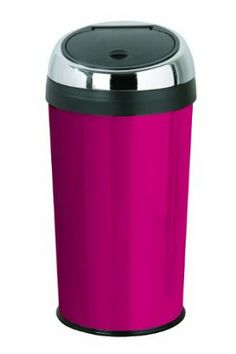 I cannot believe I'm actually getting so excited about a bin(!) but I actually ADORE this!!!  This would look amazing in my #pinkkitchen |  Premier Housewares 30 Litre Enamel Push Top Bin, Hot Pink: Amazon.co.uk: Kitchen & Home