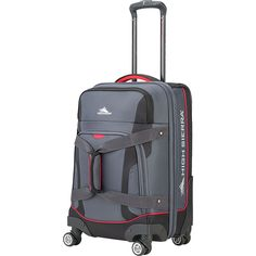 High Sierra Cermak 21 Carry-On Spinner (Mercury/Black/Crimson) Luggage Sale, Luggage Brands, Carry On Luggage, Mercury Black, Carry On Size, Best Deals Online, Sporty Style, Online Bags, Best Brand