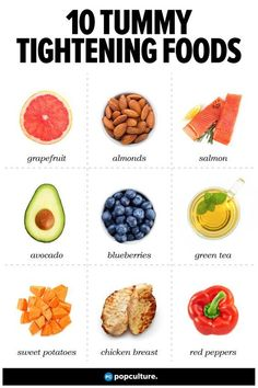 Stock Up on These 10 Tummy-Tightening Foods. Eating smart clean foods are your key to losing weight and tightening up particularly in your tummy.Add these tasty foods to your regular diet and along with regular exercise you'll see the results you want! Healthy Drinks, Healthy Tips, Healthy Choices, Healthy Snacks, Healthy Recipes, How To Eat Healthy, Eating Healthy, Diet Drinks, Healthy Workout Meals